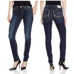Silver Jeans Suki Mid Rise Pencil Skinny Jeans 27